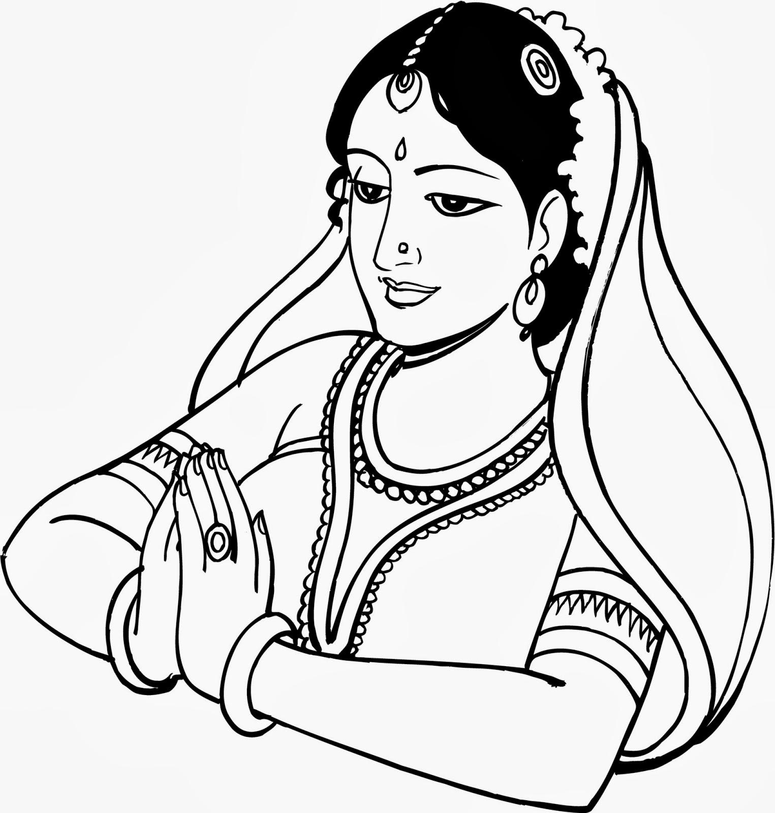 hindu wedding clipart free black and white - photo #8