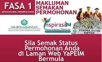 Semakan Status Dana Inspirasi Malaysia 2020 YAPEIM Online