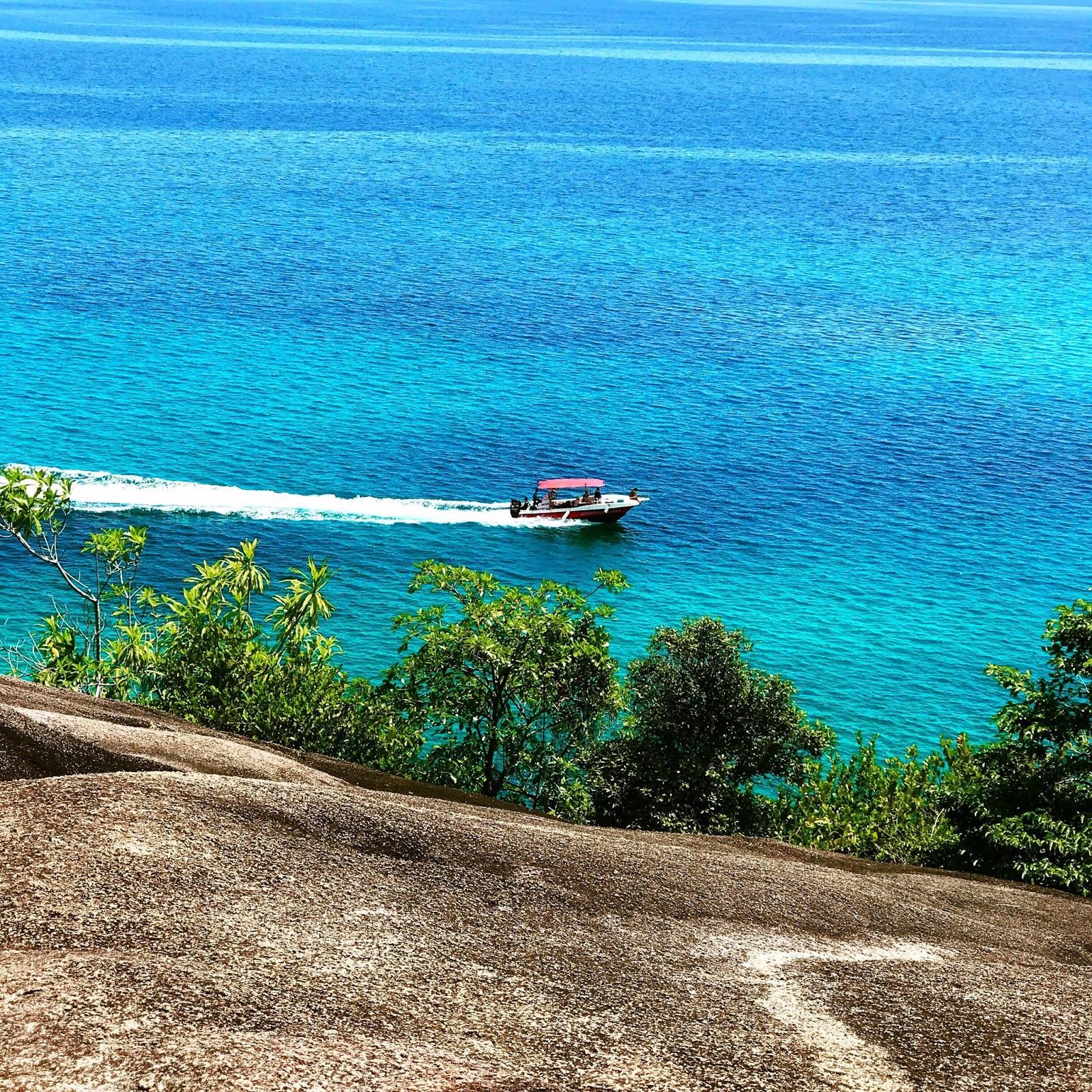 Bel Ombre Beach on Mahé Island, Seychelles