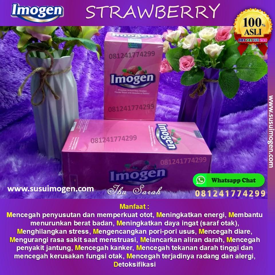 testimoni imogen strawberry; cara minum imogen strawberry untuk diet; aturan minum imogen strawberry