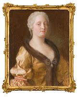 Maria Theresia im pelzverbrämten Kleid