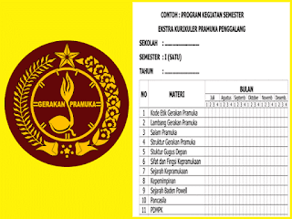 Download Program Semester Ekstrakurikuler Pramuka