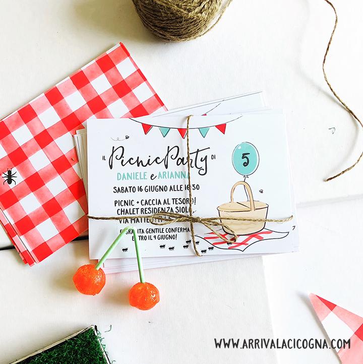 invito di compleanno festa picnic