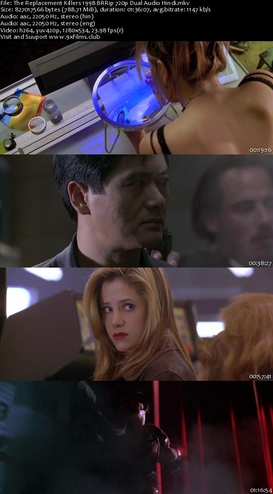 The Replacement Killers 1998 BRRip 720p Dual Audio Hindi 700mb