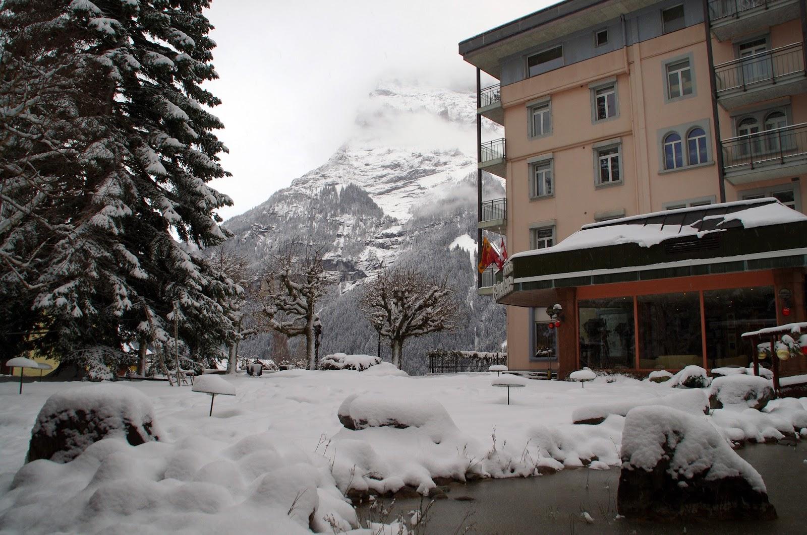 Hotel Belvedere Grindelwald Snowy Grounds