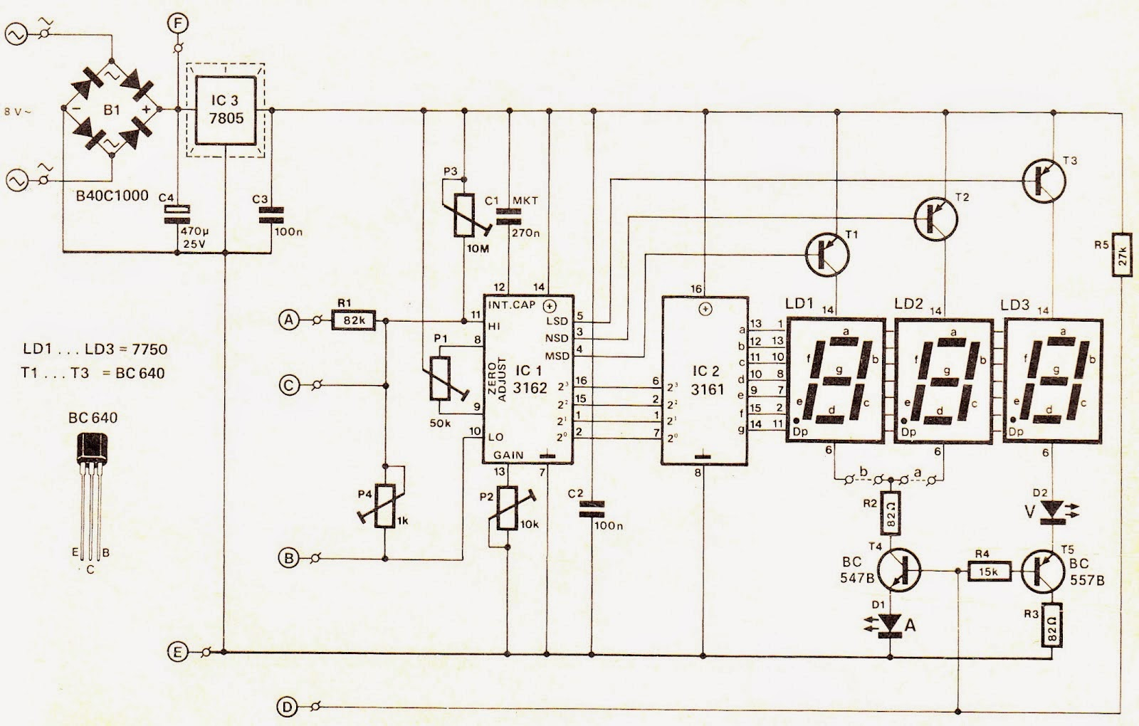 Icl7106 Voltmeter Schematic Automotive Wiring Diagram And Icl7107 3 1 2 Digit Lcd Led Display A D Converters Digital Ammeter Circuit Module Expert Circuits In