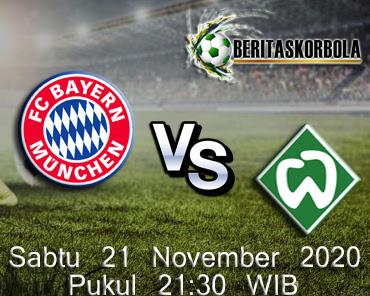 Prediksi Bola Bayern Vs Werder 21 November 2020