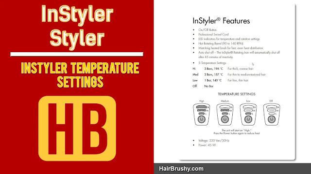 InStyler Heat Settings
