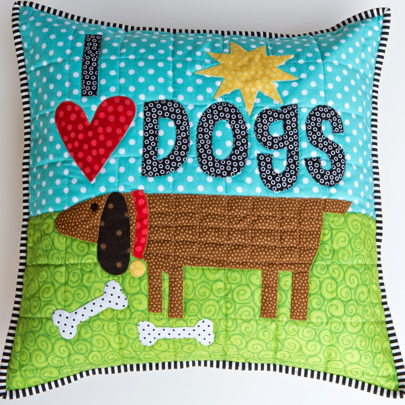 Appliqued And Quilted Pillow