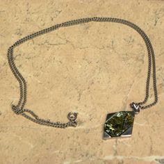 Diamond shaped abalone necklace Exquisite