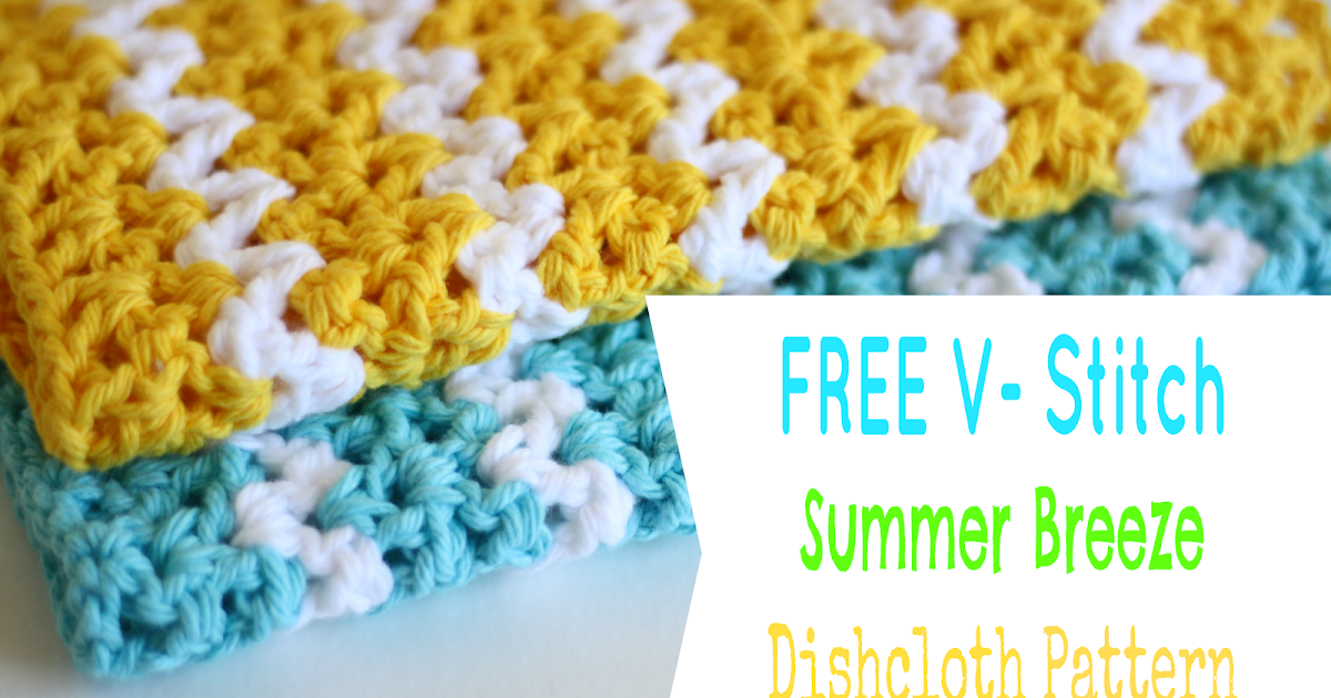 Tales of a Crafty Mommy: Free Crochet Dishcloth Pattern - ZigZag