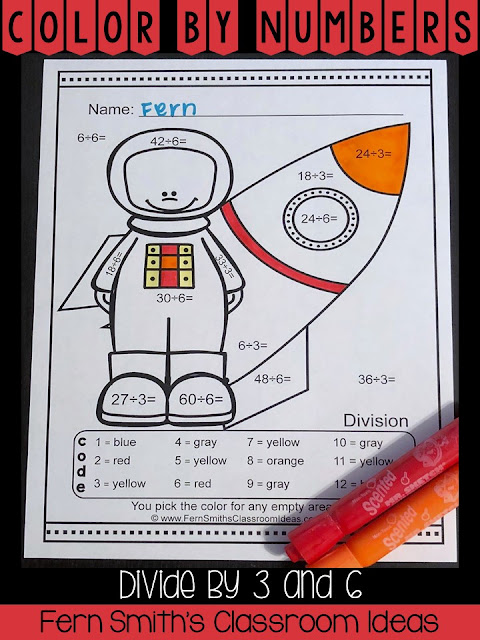 Community Helper Themed Divide by 3 and 6 Color By Numbers Printables - Your students will adore these five Career Themed / Community Helpers Color By Numbers divide by three and six worksheets while learning and reviewing important skills at the same time! You will love the no prep, print and go Career Themed / Community Helpers Color Your Answers Worksheets for division of 3 and 6 with Answer Keys Included. Fern Smith's Classroom Ideas at TpT.