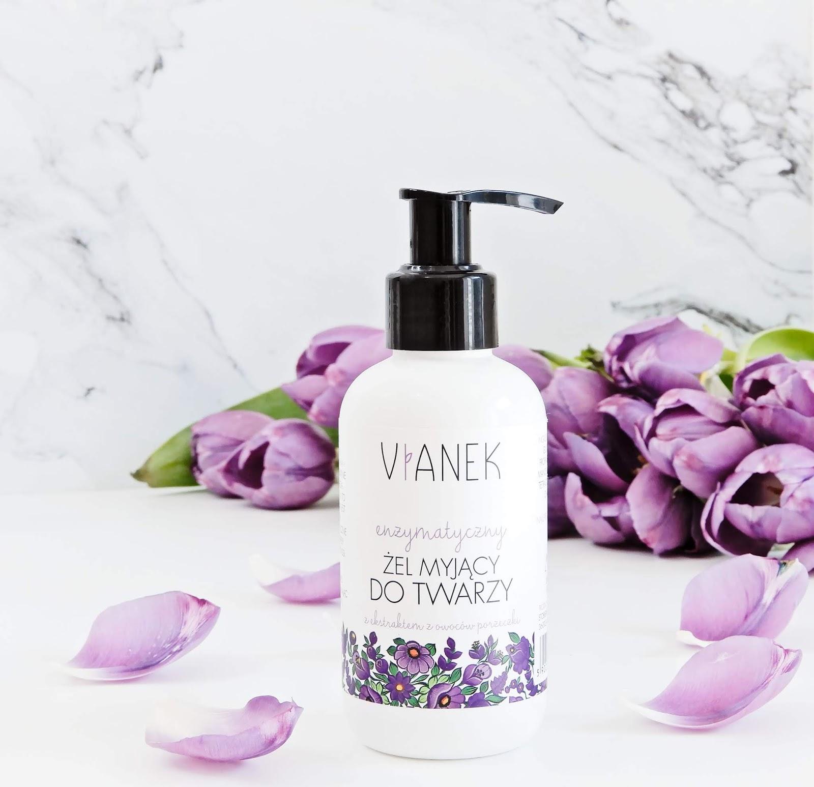 Vianek enzymatyczny żel myjący do twarzy, Vianek żel enzymatyczny, żel vianek, vianek seria fioletowa, vianek seria wzmacniająca, vianek seria kojąca,