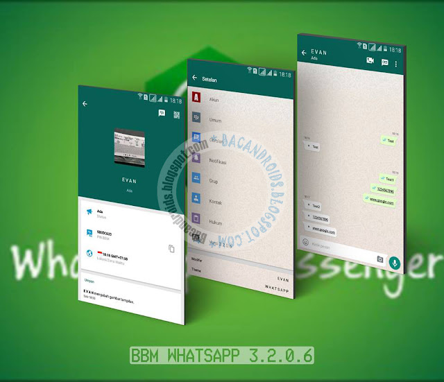 BBM Mod Whatsapp Stye v3.2.0.6 Apk terbaru Clone Unclone