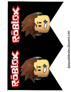 Roblox Free Printable Banners and Cupcake Toppers.