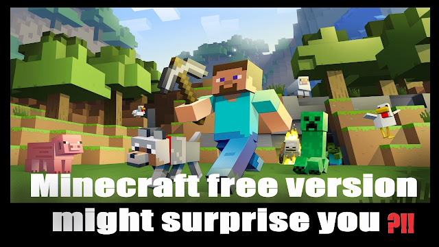 Minecraft free version might surprise you 😍
