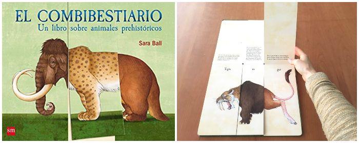 Libro informativo prehistoria Combibestiario libro animales