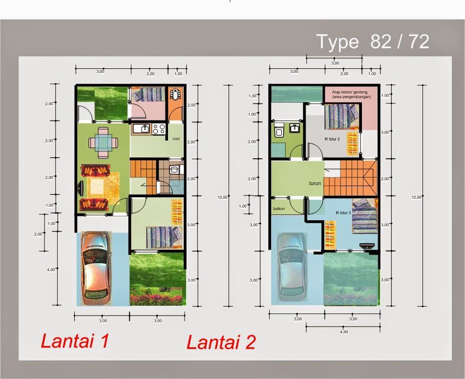 Desain Rumah Minimalis 2 Lantai Luas Tanah 72