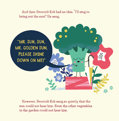 Learn about characters and events while reading Broccoli Rob and the Garden Singers by John S. Armstrong. Make hand puppets and choral read the story. #kellysclassroomonline
