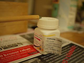 Matchande pillerburkar