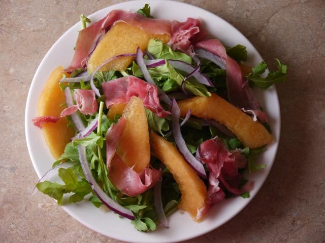 Clockwatching Tart Simple Prosciutto Amp Cantaloupe Salad
