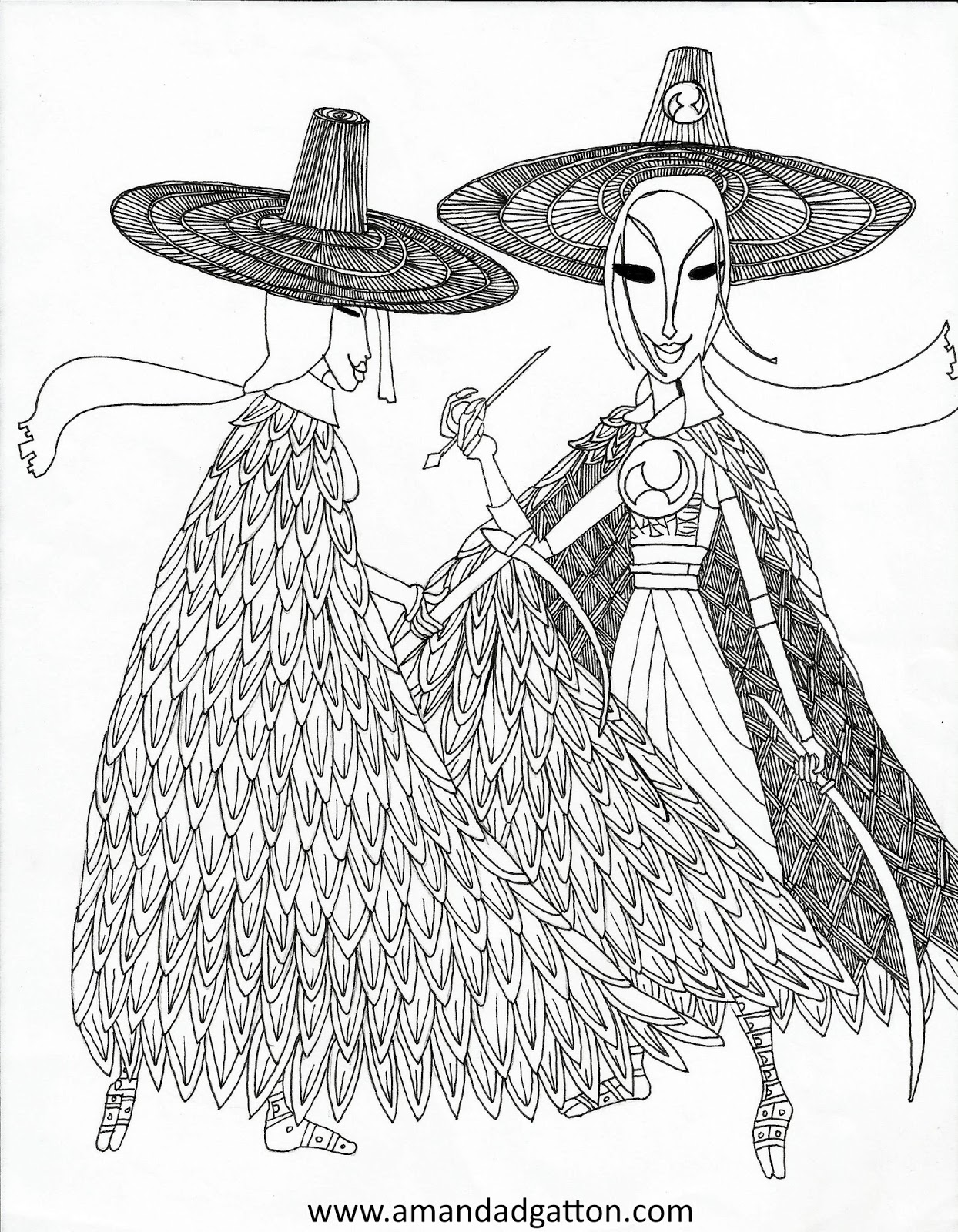 Kubo S Mom Coloring Page