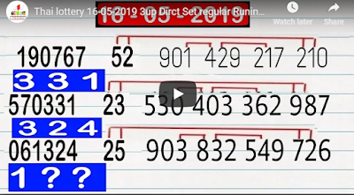 Thai lottery 3up Direct Set regular Ruining Formula Trick 16 May 2019
