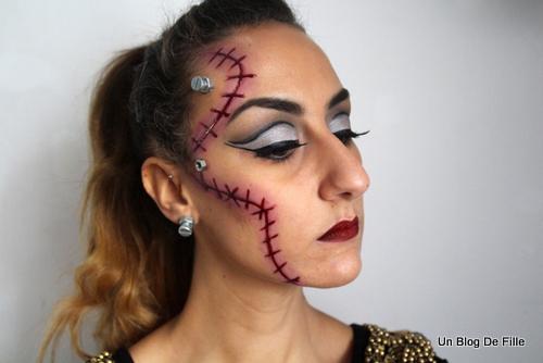 un blog de fille halloween makeup robot et cicatrice. Black Bedroom Furniture Sets. Home Design Ideas
