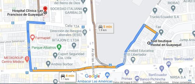 Hotel cerca del Hospital Clínica San Francisco de Guayaquil