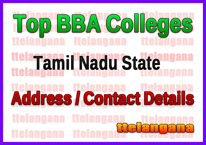 Top BBA Colleges in Tamil Nadu