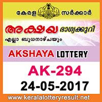 Akshya Lottery AK-294 Results 24-5-2017