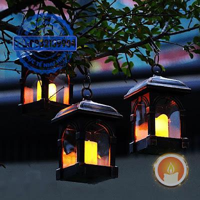 Lồng đèn nến treo sạc pin năng lượng mặt trời