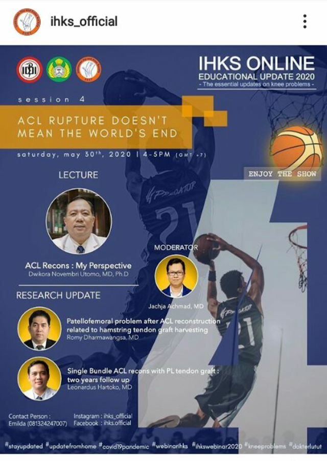 "Seminar IHKS ""ACL Rupture Doesn't Mean The World's End"""