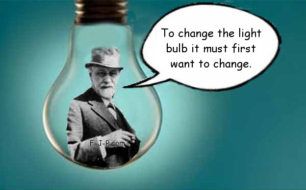 Funny To change the light bulb it must first want to change joke picture