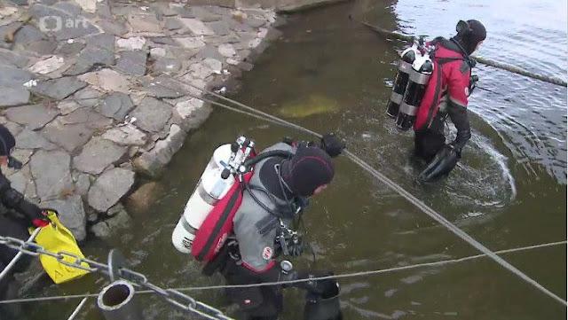 Underwater remains of Prague's first bridge explored