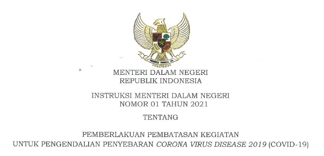 Instruksi Menteri Dalam Negeri Nomor 1 Tahun 2021