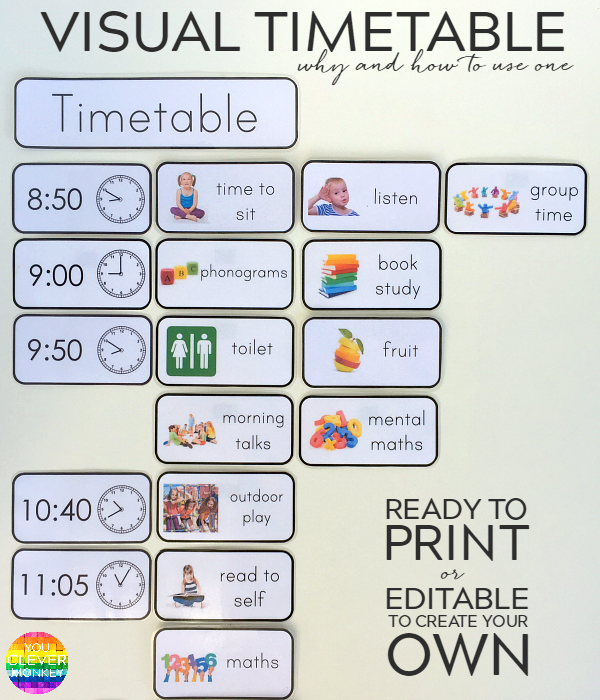 WHY AND HOW TO USE A VISUAL TIMETABLE EFFECTIVELY | you ...