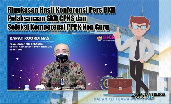 Ringkasan Hasil Konferensi Pers BKN Pelaksanaan SKD CPNS dan Seleksi Kompetensi PPPK Non Guru