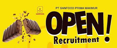 Lowongan PT SANFOOD PRIMA MAKMUR Snack Demak Manufacturing Company OPEN Recruitment!