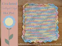 crochet scalloped edged hotpad