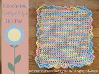 crochet scalloped edged hotpad