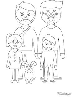 משפחה להטבית דפי צביעה