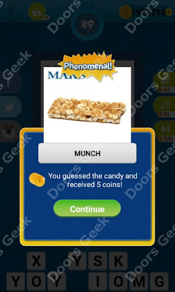 Answers, Cheats, Solutions for Guess the Candy Level 49 for android and iphone