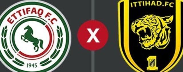 موعد مباراة الإتفاق ضد الإتحاد والقنوات الناقلة لها ومعلق مباراة الإتحاد والإتفاق الدوري السعودي (الأسبوع 25)