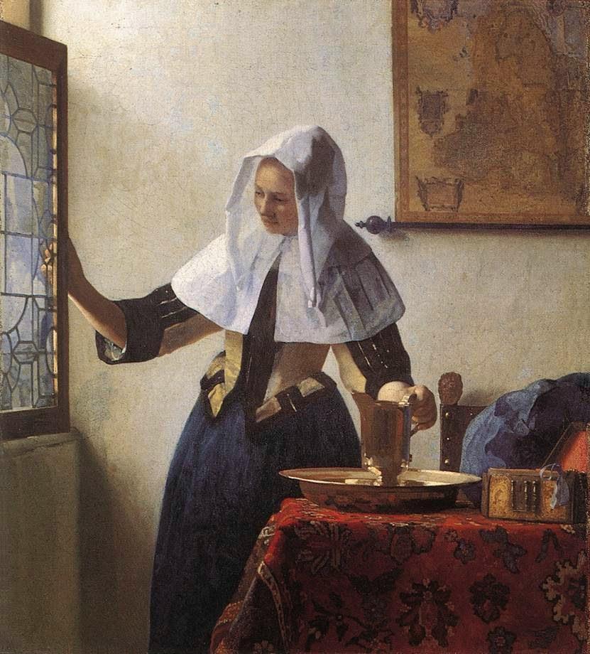 Jovem Mulher com um Jarro de Água - Vermeer, Jan e suas principais pinturas