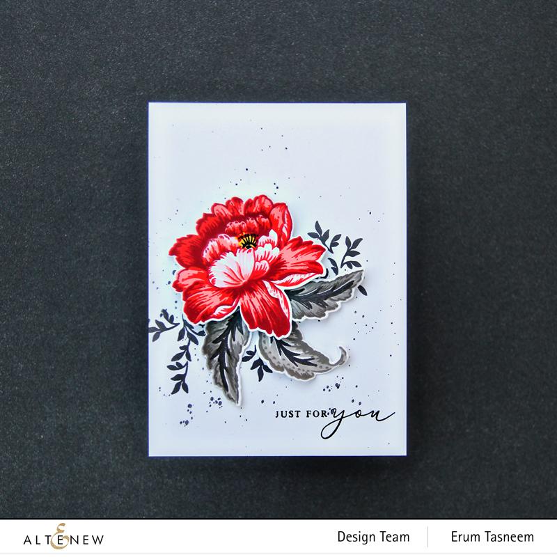 Altenew Regal Beauty Stamp Set | Erum Tasneem | @pr0digy0