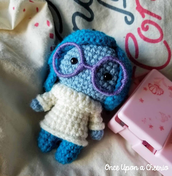 Inside Out Sadness Free Amigurumi Crochet Pattern