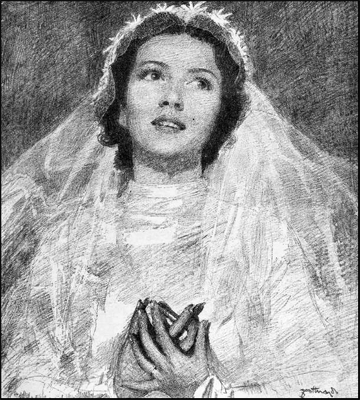 Drawing of a bride from 1934