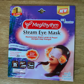 MegRhythm steam eye mask lavender