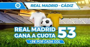 Paston megacuota Real Madrid vs Cadiz 17-10-2020